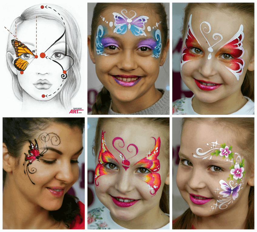Butterflies in the International Face Painting School