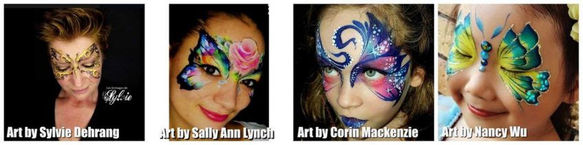 Face painting - butterflies from different artists - 2