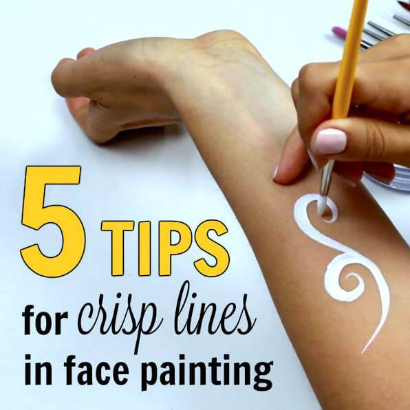 5 Tips for Crisp Lines in Face Painting