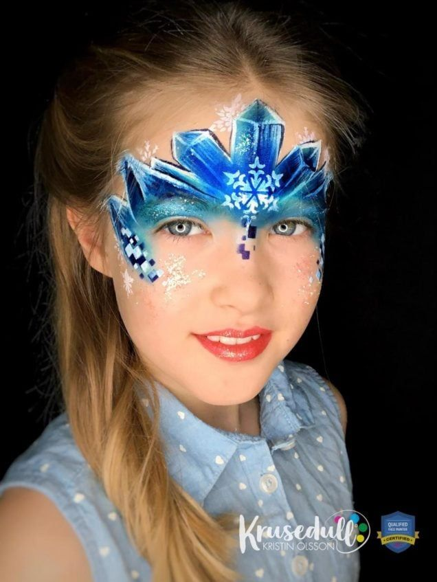 Arctic Ice Princess - face painting design - step 8