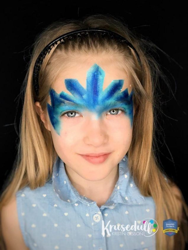 Arctic Ice Princess - face painting design - step 5