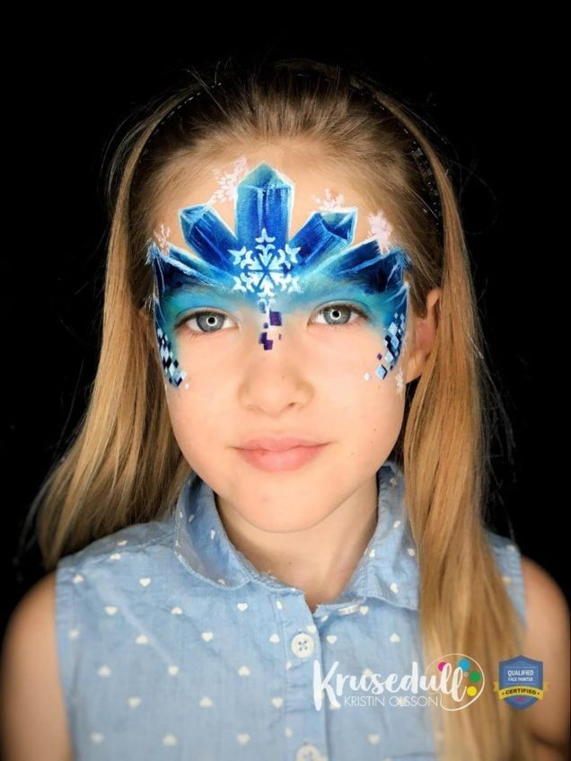 Arctic Ice Princess - face painting design - step 7