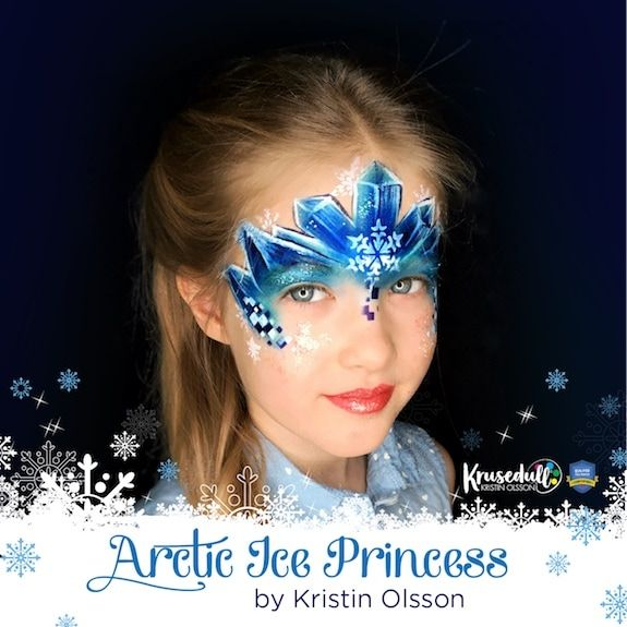 Arctic Ice Princess Face Paint Step by step by Kristin Olsson