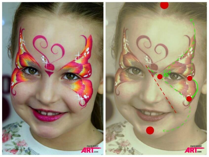 Butteflies - Focal points in face painting