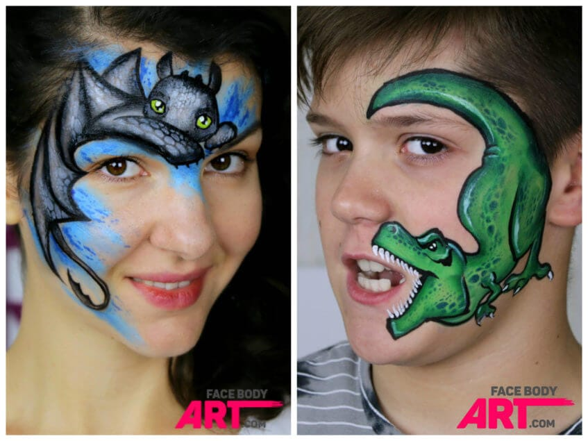 Dragon - face painting design