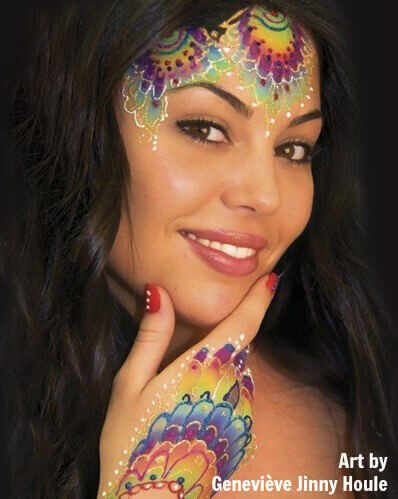 How To Use Glitter Gel From Face Painting