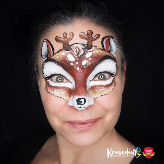 Cute and Easy Reindeer Face Paint Tutorial – Step-by-Step by Kristin Olsson
