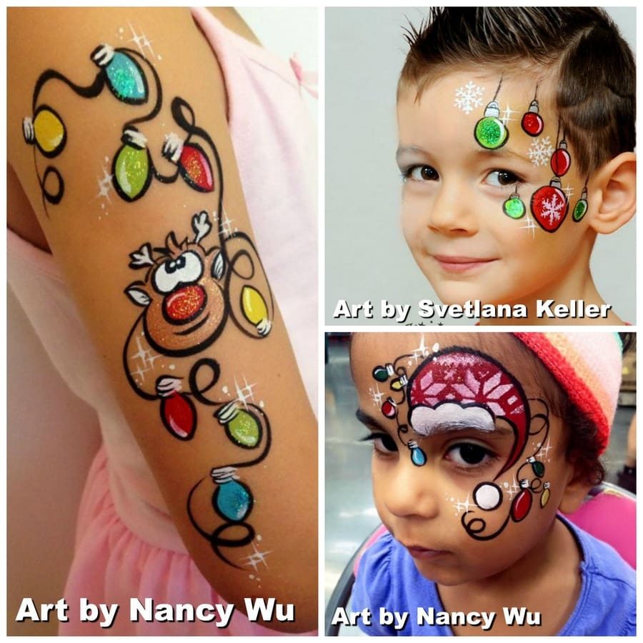 Christmas Face Paint.Christmas Face Paint Ideas Easy Step By Step Tutorials Tips