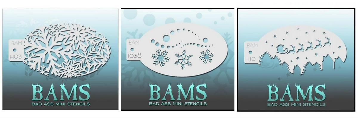 BAMS Stencils with snowflakes, stars