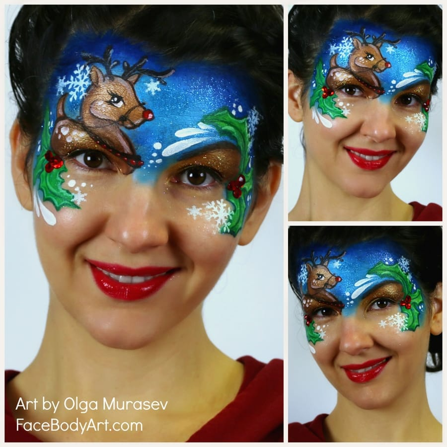 Christmas Face Paint Ideas Easy Step By Step Tutorials Tips