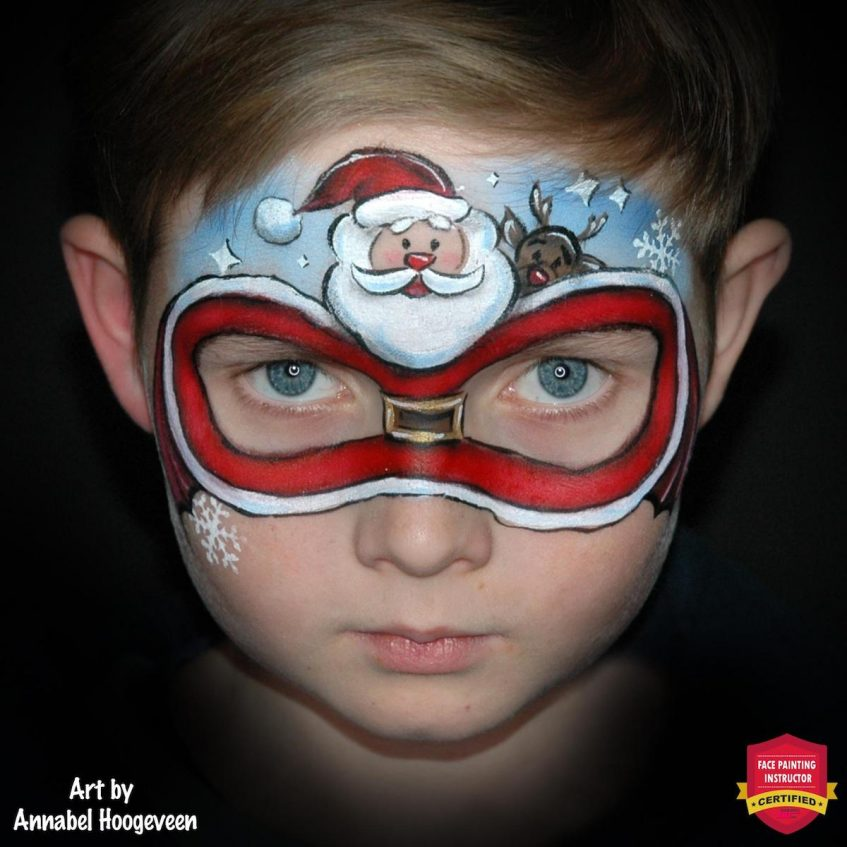 Santa Claus Face Paint Step By Step