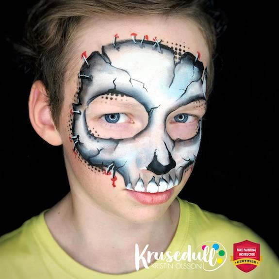 Line buster Skull Mask 💀 step-by-step by Kristin Olsson
