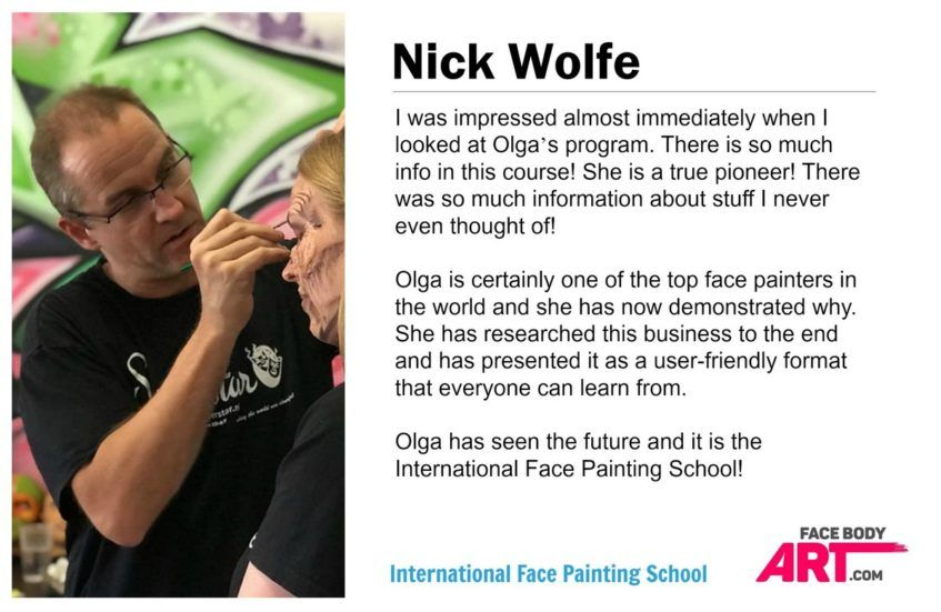 Nick Wolfe review International Face Painting School