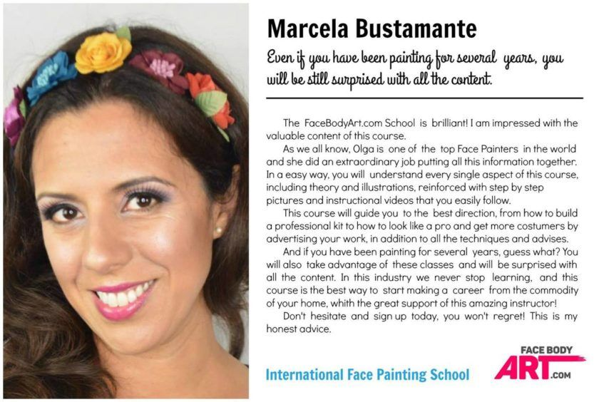 Marcela Bustamante review International Face Painting School