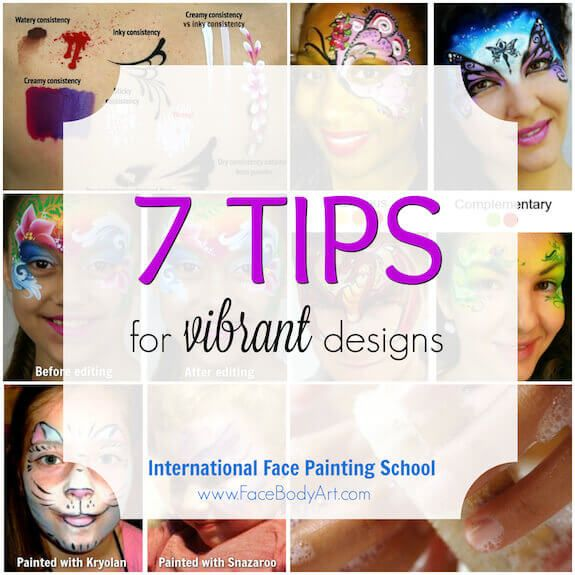 Top 7 tips for vibrant designs in face painting ✨