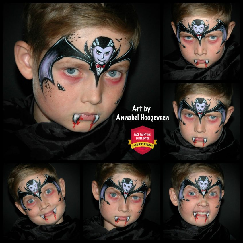 Amazing Halloween Vampire Face Paint Tutorial Step By Step
