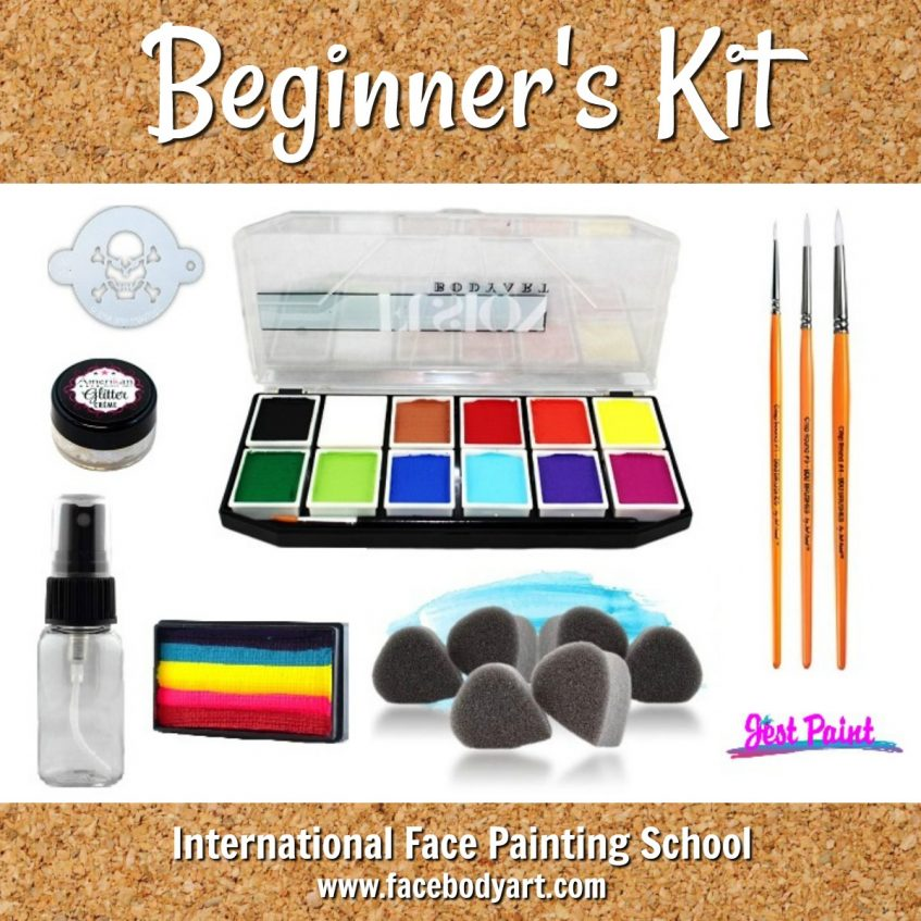 beginner's kit for face painting