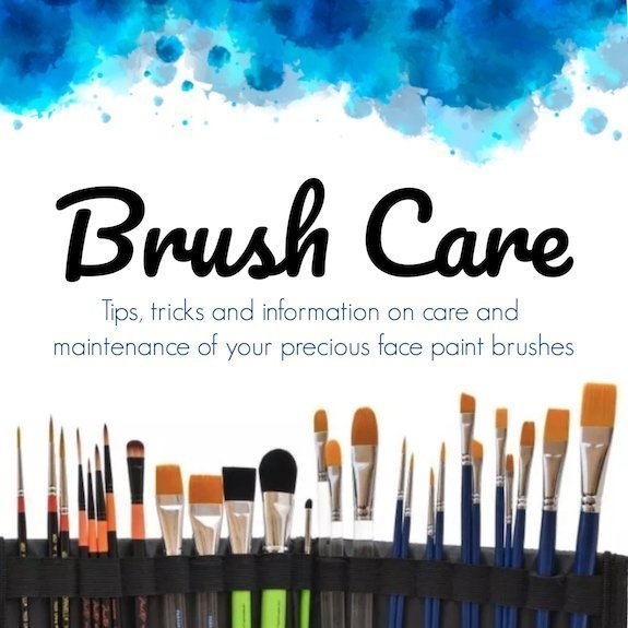 Brush Care: tips & tricks on care and maintenance of your face paint brushes