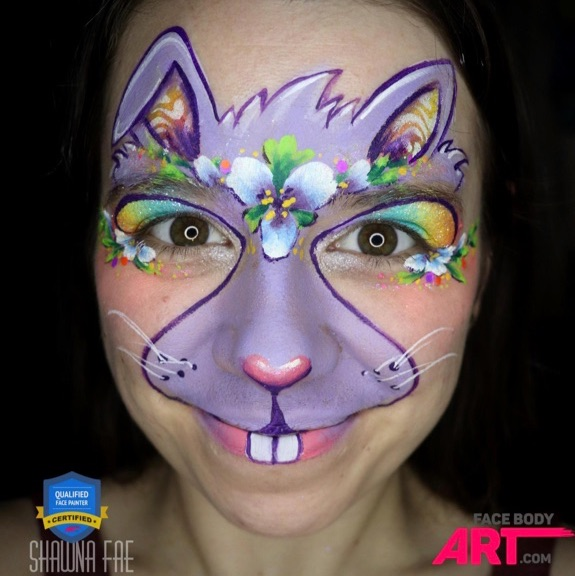 Colorful Spring Bunny Step by Step by Shawna Fae Thomas