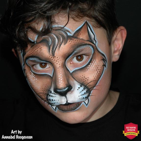 Halloween Cat Face Paint for Boys- Step-by-Step by Annabel Hoogeveen