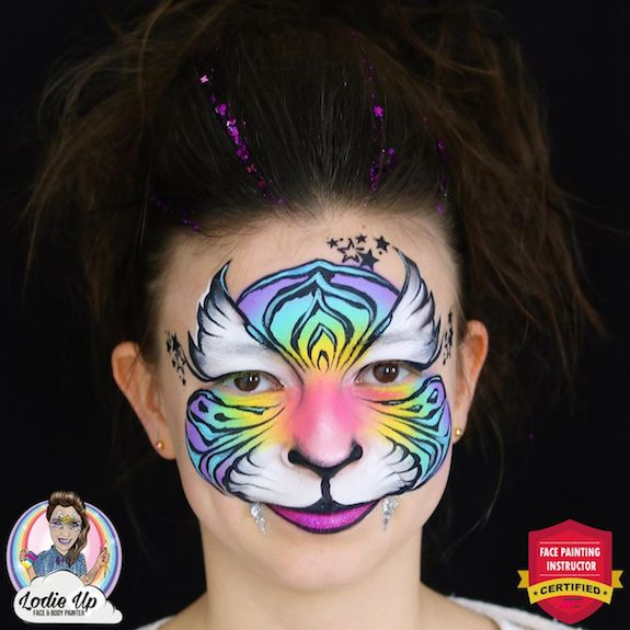 Colorful Tiger Face Paint – Step-By-Step by Elodie Ternois