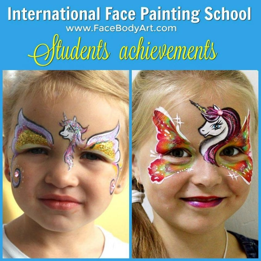 Before and after by Kristina Zagulina - International Face Painting School