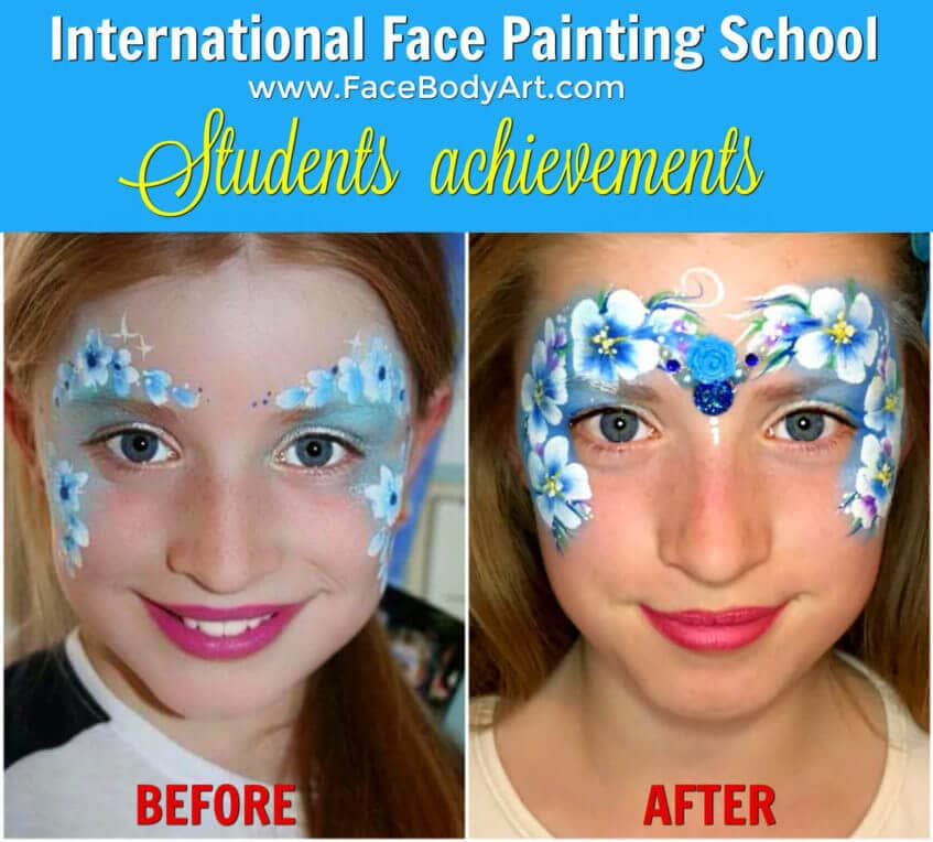 Before and After - International Face Painting School