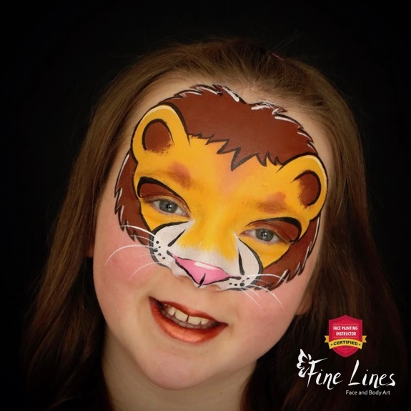 Lion Face Paint: Fast and Impressive Design by Rosie Lieberman
