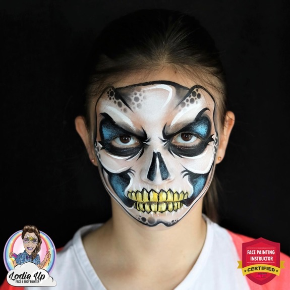 Dead Easy Skeleton Face Paint Tutorial by Elodie Ternois