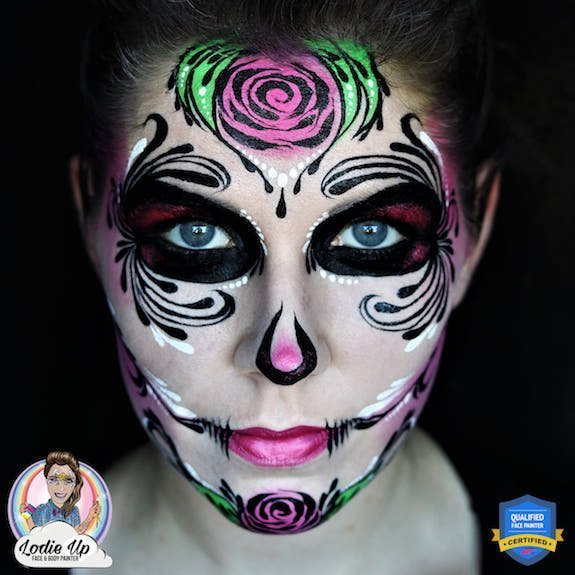 Sugar Skull Face Paint Step-by-Step Tutorial by Elodie Ternois
