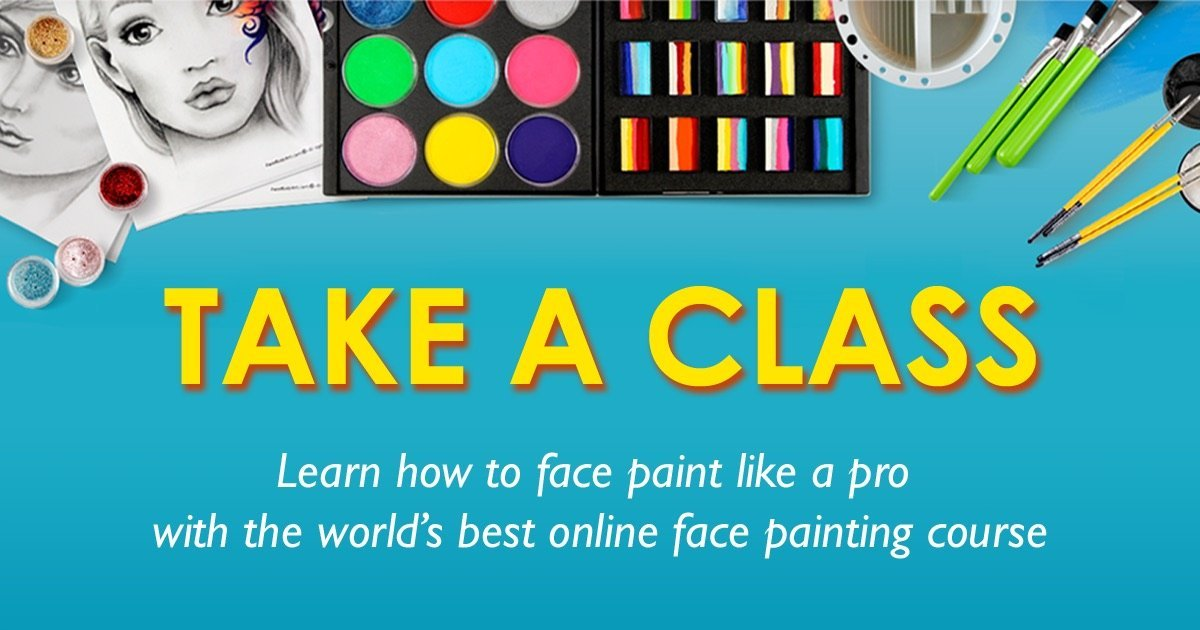 World's Best Online Face Painting Class:<br> Get the Training You Need to Face Paint Like a Pro