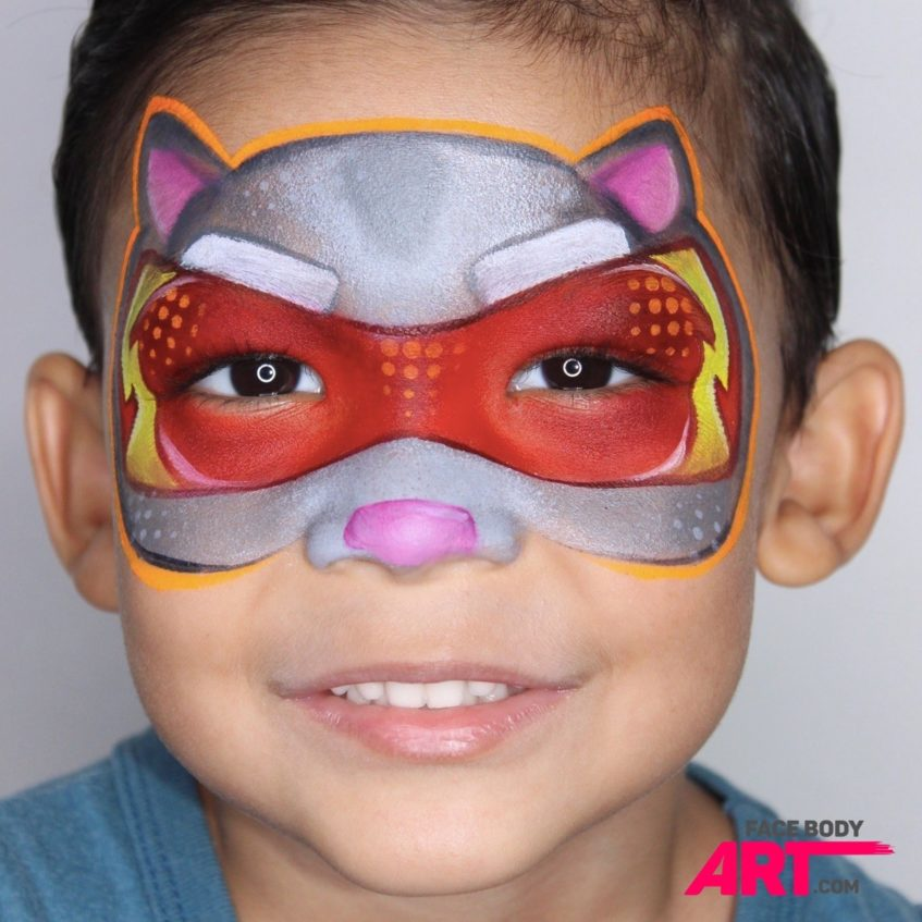 Talking Tom Face Paint Tutorial