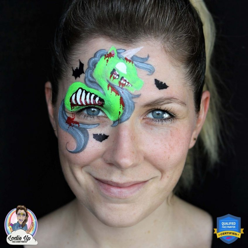 Zombie Unicorn Face Paint Tutorial: Step by Step Guide